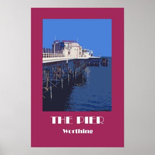Worthing Pier 1920s-style retro poster
