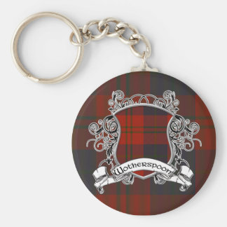 Wotherspoon Tartan Shield Basic Round Button Key Ring