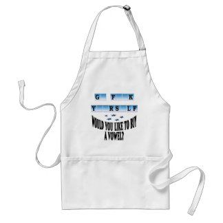 Woul you like to buy a vowel? standard apron