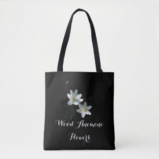 Would Anemone Flowers all over Print Tote bag