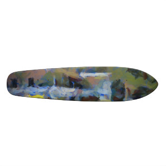 Would you stay here 18.1 cm old school skateboard deck