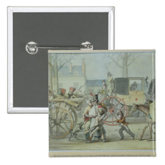 Wounded French Soldiers Entering Paris 15 Cm Square Badge