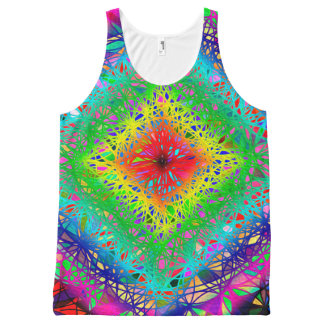 Woven abstract Rustic Tank