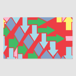 Woven Arrows Design Rectangular Sticker