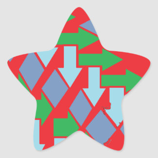 Woven Arrows Design Star Sticker