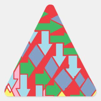 Woven Arrows Design Triangle Sticker