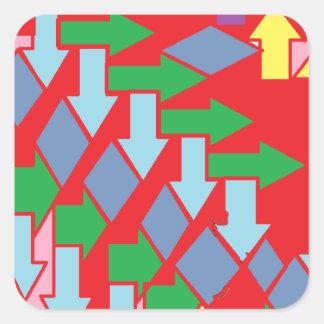 Woven Arrows Design Square Sticker