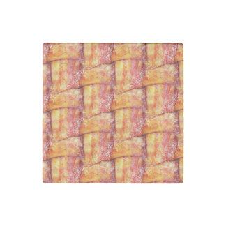 Woven Bacon Stone Magnet