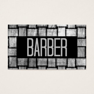 Woven Barber Business Card