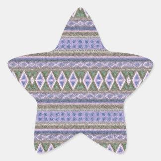 woven borders,blue star sticker