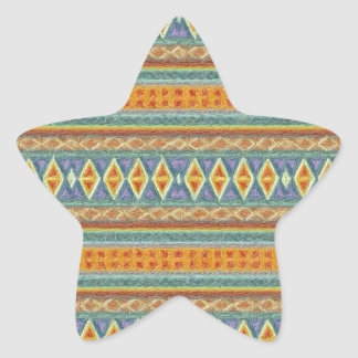 woven borders,orange star sticker