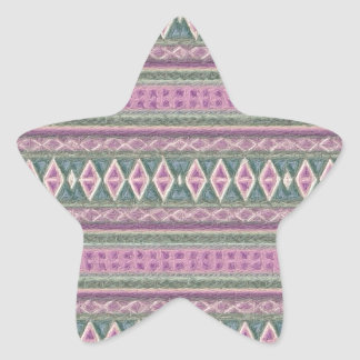 woven borders,pink star sticker
