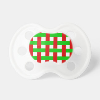 Woven Christmas Stripes Baby Pacifier