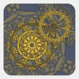 Woven Clockwork Sticker
