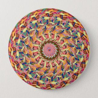 Woven colors 10 cm round badge