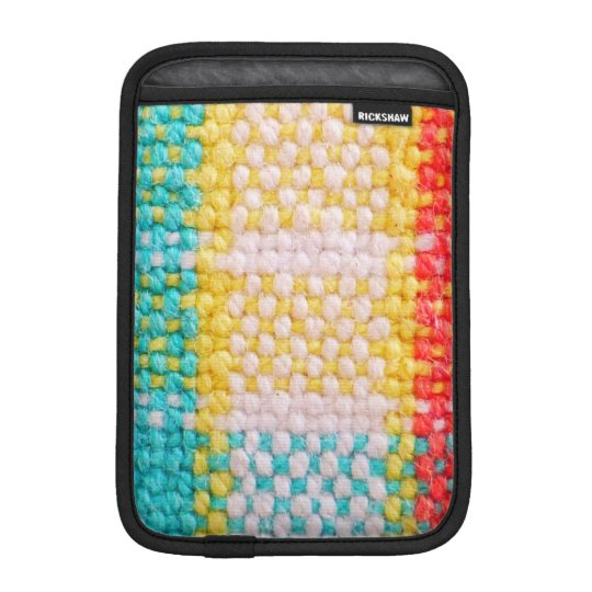 Woven Fabric Print iPad Mini Sleeve