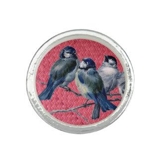 """Woven Harakeke""- Magenta with Spring birds"