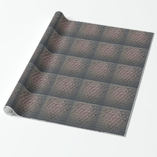 Woven heart design wrapping paper