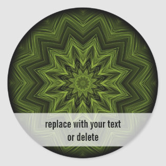woven jungle leaves round sticker