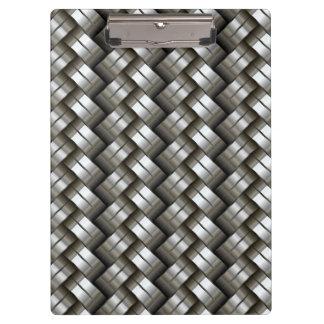 Woven metal pattern clipboard