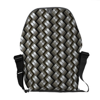 Woven metal pattern courier bags