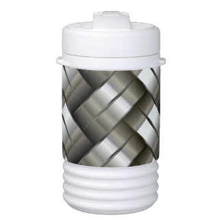 Woven metal pattern drinks cooler