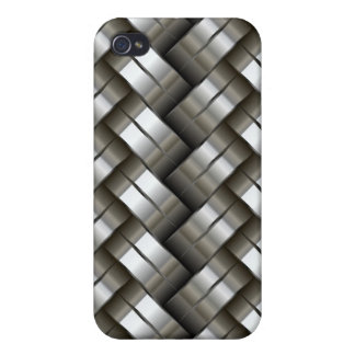 Woven metal pattern iPhone 4 cases