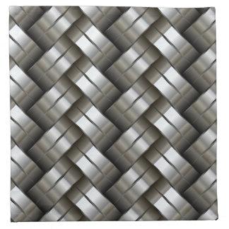 Woven metal pattern napkin