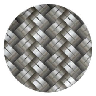 Woven metal pattern plate