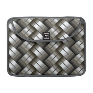 Woven metal pattern sleeve for MacBooks