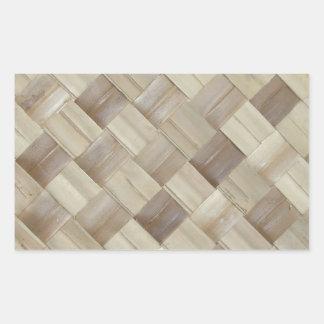 Woven Palm Matting Rectangular Sticker