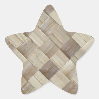 Woven Palm Matting Star Sticker