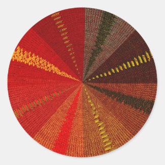 Woven Pattern Round Sticker