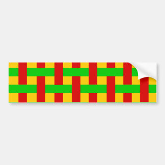 Woven Rasta Bumper Sticker