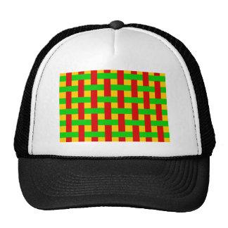 Woven Rasta Trucker Hat