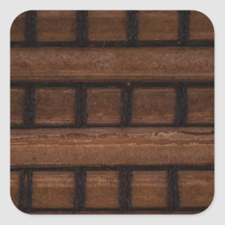 Woven Rattan Square Stickers