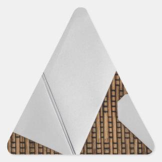 Woven Rattan Triangle Stickers