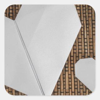 Woven Rattan Square Sticker