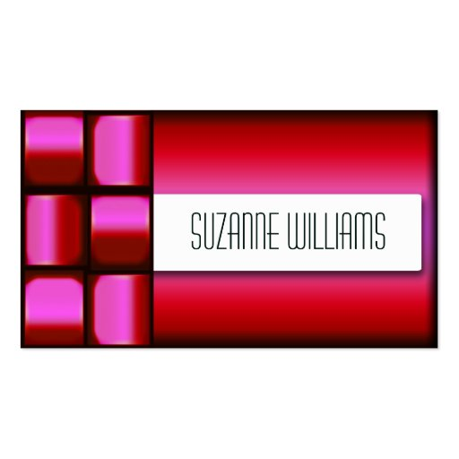 Woven Red Professional Business Card