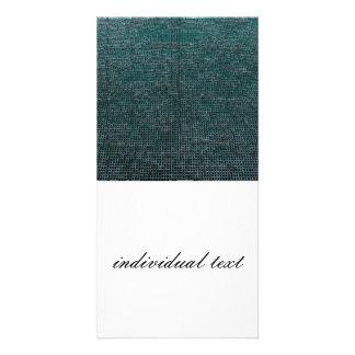 woven structure aqua custom photo card