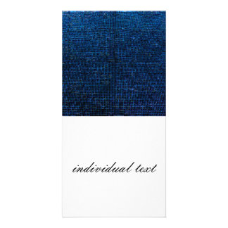 woven structure blue photo greeting card