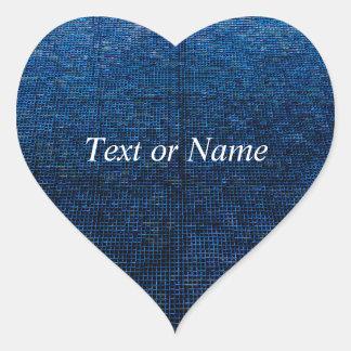 woven structure blue heart sticker
