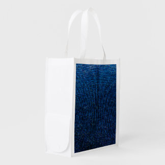 woven structure blue grocery bag