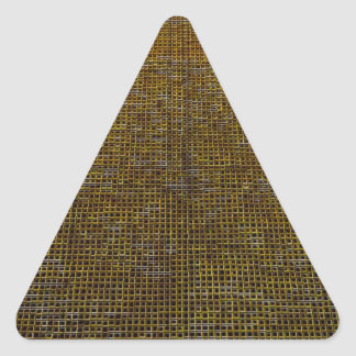 woven structure golden triangle sticker