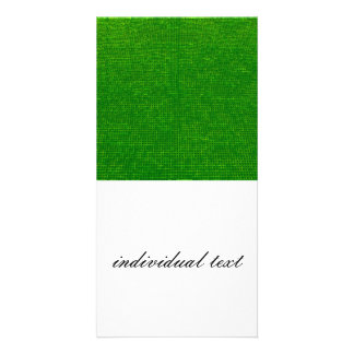 woven structure green picture card