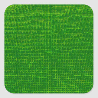 woven structure green square stickers
