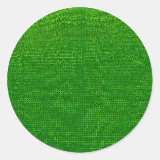 woven structure green sticker