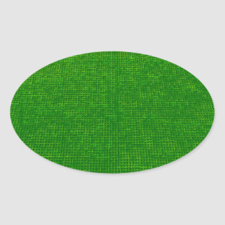 woven structure green oval sticker