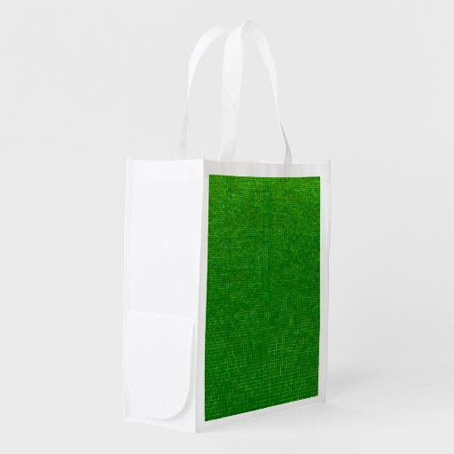 woven structure green grocery bags