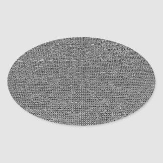 woven structure metal silver sticker